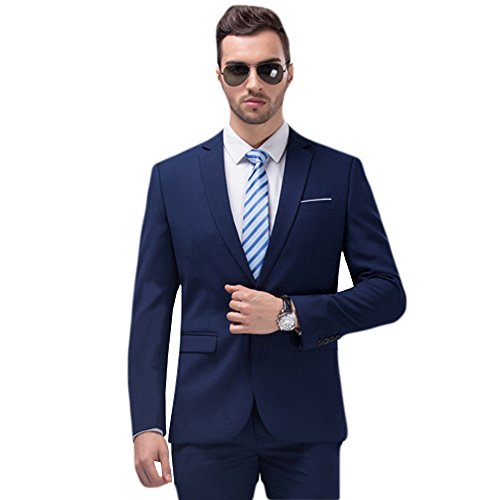 WULFUL Men's Suit Blazer Slim Fit One Button Casual Formal Suit Jacket Wedding Tuxedo by WULFUL (Image #2)