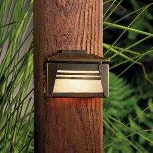 Kichler 15110OZ Zen Garden Deck 1-Light 12V, Olde Bronze