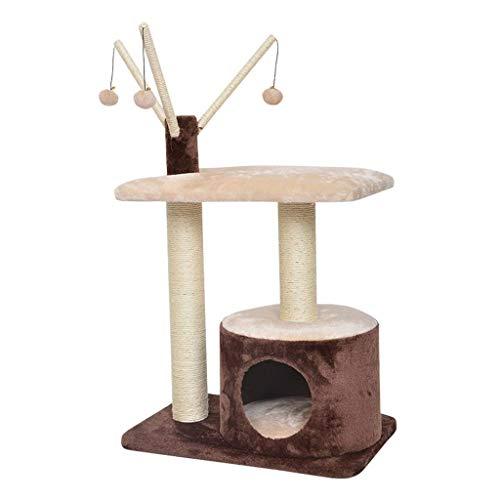 FTFDTMY Rattan Weaving Cat House, Kratzbaum Einteiliger Cat Climbing Frame Cat Scratch Column Pet Cafe Kleines Spielzeug…
