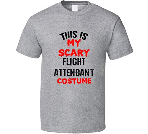 SHAMBLES TEES This is My Scary Flight Attendant Costume Funny Occupation Halloween T Shirt L Sport -