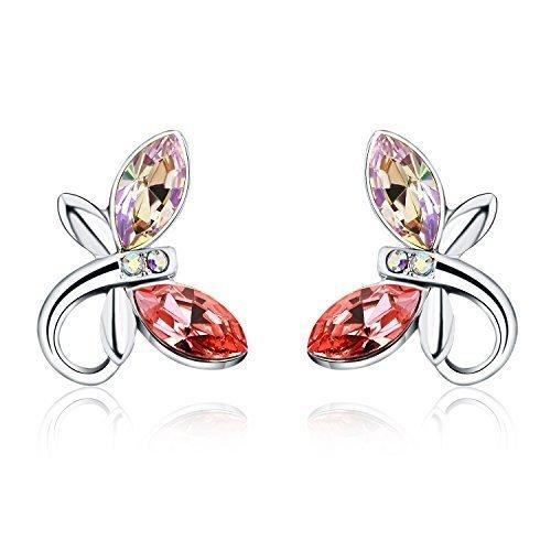 Österreichischen Kristall SWAROVSKI - Libelle Ohrstecke Ohrringe Damen