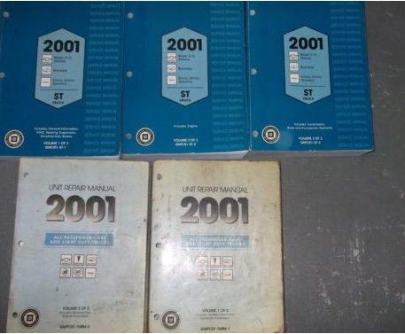 (2001 Chevy S-10 S10 Blazer GMC Sonoma Jimmy Truck Service Repair Shop Manual SET (3 volume set, and the unit repair manuals.) (3 volume set, and the unit repair manuals.))