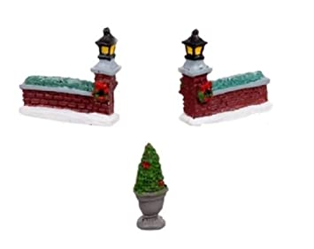 Amazon Com Cobblestone Corners Miniature Christmas Village Resin