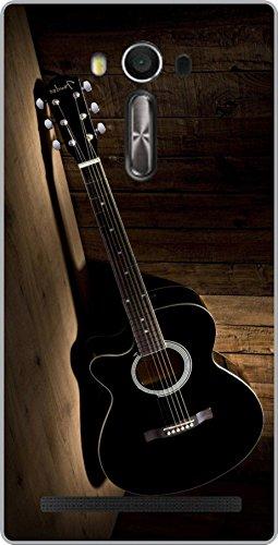 shengshou guitar design mobile back cover for asus zenfone 2 laser ze550kl 5.5 in   black brown   Black; Brown