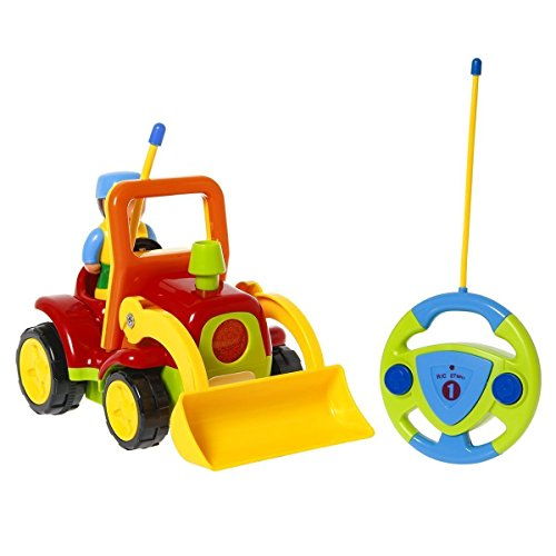 ck Toy for Toddlers Kids, Remote Control Truck with Sound, Yellow (Radio Controlled Tractor)