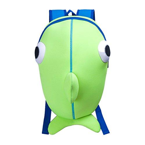 Kids Whale Backpack 3D Cute Zoo Cartoon School Boys Girls Bags