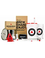 Northern Brewer Brew. Share. Enjoy. HomeBrewing Starter Set With Block Party Amber Beer Brewing Recipe Kit And Stainless Steel Brew Kettle - Equipment For Making 5 Gallons Of Homemade Beer