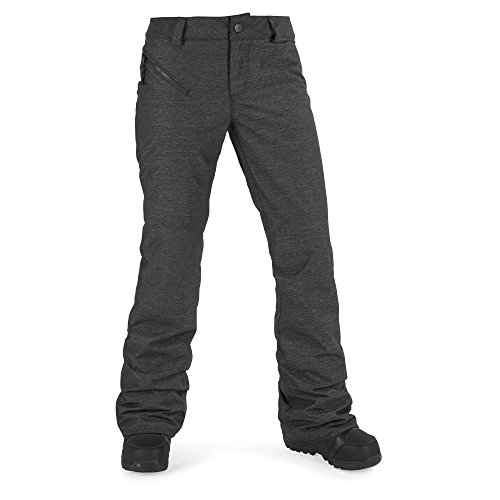 Volcom Junior's Pinto 2 Layer Shell Snow Pant, Black, Extra Small by Volcom