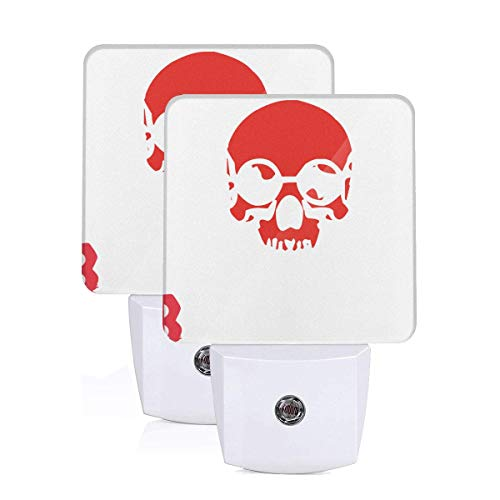 Jiu Jitsu Skull with Black Belt 2 Packs Printing LED Night Light Judo Throws,The Skulls,Karate Exellent in Workmanship Night Lamp EU