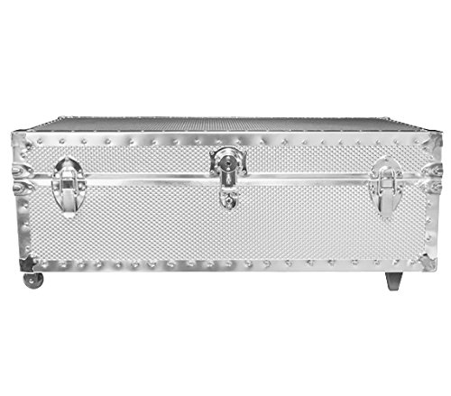 DormCo Underbed Steel Trunk - USA Made - Embossed by DormCo