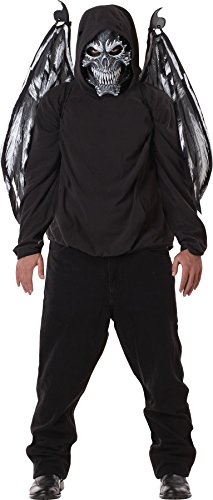 UHC Men's Fallen Angel Mask And Wings Theme Party Adult Costume Accessories, OS