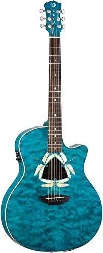 luna-fauna-series-dragonfly-quilted-maple-cutaway-acoustic-electric-guitar-transparent-teal