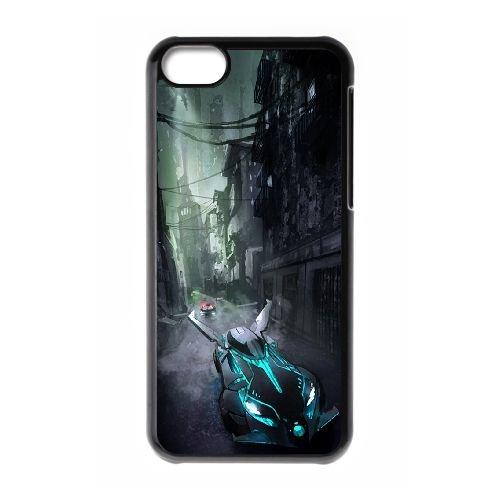 Batman Batmobile coque iPhone 5C Housse téléphone Noir de couverture de cas coque EBDOBCKCO09366