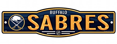 Buffalo Sabres Street Sign - WinCraft NHL Buffalo Sabres 4''x17'' inch Plastic Street Sign