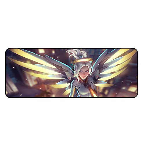 Overwatch,XXL Gaming Mouse Pad,Extended Size Professional Gaming Mouse Pad,Custom Mouse Pad,Extended Mat- Soldier: 76