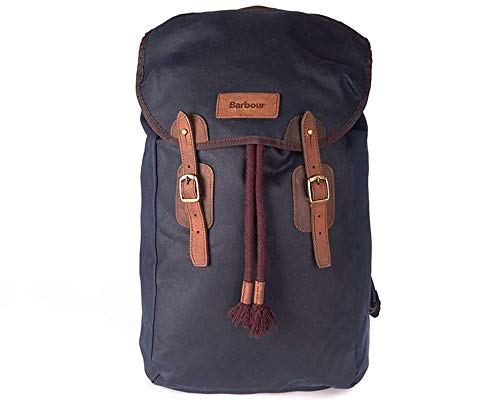 Barbour Waxed-Cotton Backpack with Leather Trim (Barbour Waxed Leather)