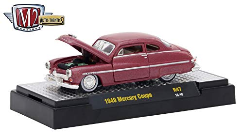 M2 Machines 1949 Mercury Coupe (Midland Maroon Metallic) Auto-Thentics Series Release 47 - 2018 Castline Premium Edition 1:64 Scale Die-Cast Vehicle (R47 18-10)