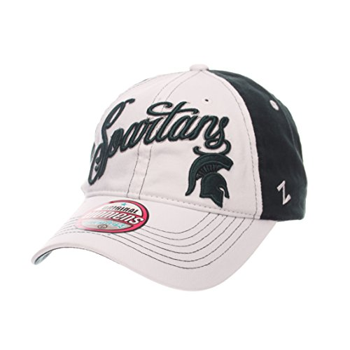 Zephyr NCAA Michigan State Spartans Adult Women Vogue Women's Relaxed Hat, Adjustable, White/Team (Michigan State Spartans Football)