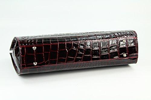 Di Italianain 30 nbsp;cm 40 X Design Lack larghezza Profondità Pelle C Bordeaux Il Adatta Lavoro Belli Borsa Cm Per Altezza 12 I7FOqwW5Z