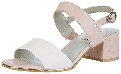 Be Natural Damen 28203 Offene Sandalen mit Keilabsatz Pink (ROSE 521)