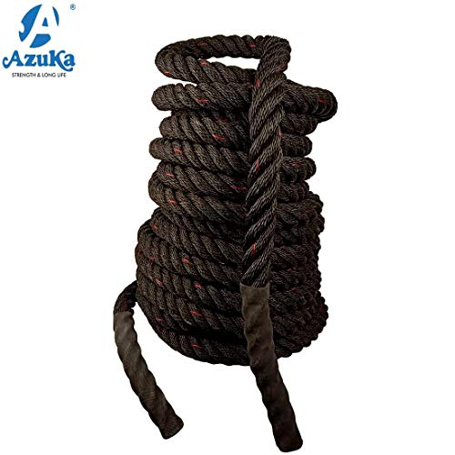 Azuka The Ultimate Fitness Battle Black PP Ropes with Red Tracer (1.5 x 50 ft) Price & Reviews