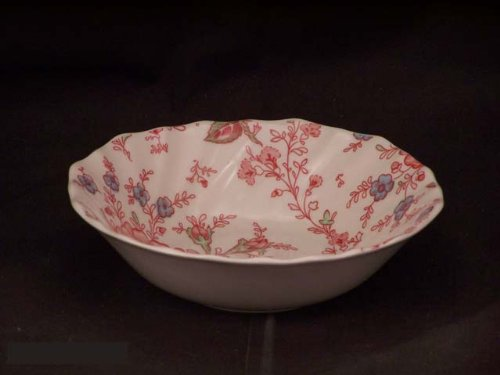 Johnson Brothers Rose Chintz - Johnson Bros. Rose Chintz Pink Square Cereal Bowls