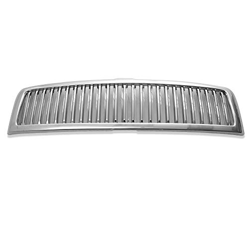 Grille Fits 1994-1998 Dodge Ram 1500 & 2500 & 3500 | Vertical Style ABS ChromeFront Bumper Hood Grill by IKON MOTORSPORTS | 1995 1996 1997 1998 1999 2000 2001