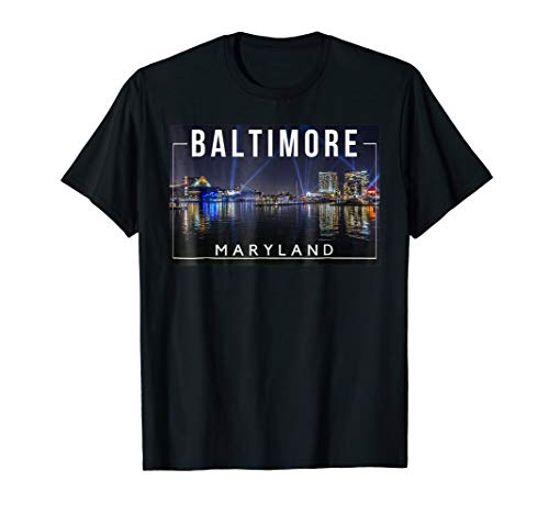 Baltimore Maryland MD Charm City Skyline -