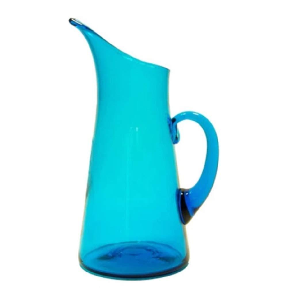Blenko Slipper Glass Pitcher, Turquoise (3317P-25)