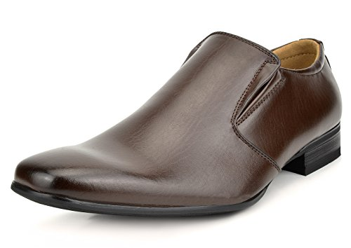 - Bruno Marc Men's Gordon-07 Dark Brown Leather Lined Dress Loafers Shoes Size 10.5 M US