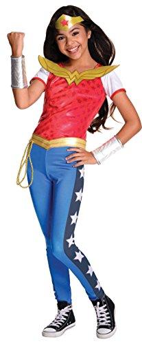 [Rubie's Costume Kids DC Superhero Girls Deluxe Wonder Woman Costume, Medium] (Kid In Halloween Costumes)