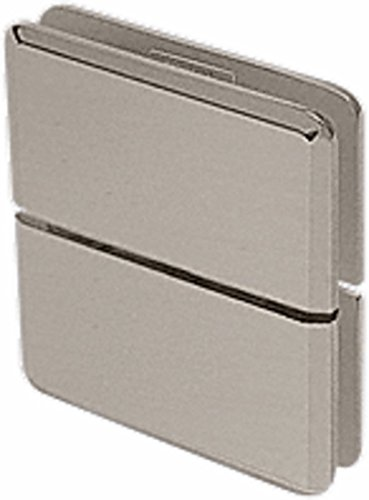 C.R. LAURENCE JRPPH02BN CRL Brushed Nickel Junior Prima 02 Series Glass-to-Glass Mount Hinge