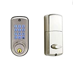 Product Attribute: Smart Auxiliary Password LockUnlock mode: password + keyFront panel material: zinc alloyRear panel material: PVC plasticPower supply mode: 4 5th batteryColor: brushed silverUser capacity: 20 groups of usersLock tongue type:...