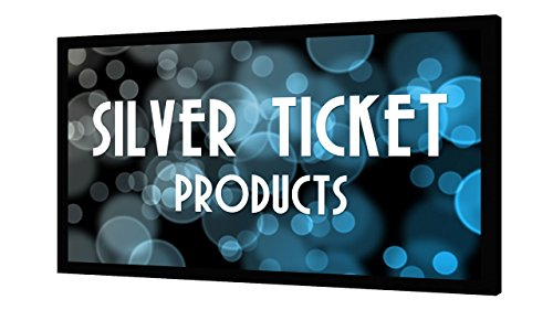 STR-169120-G Silver Ticket 4K Ultra HD Ready Cinema Format (6 Piece Fixed Frame) Projector Screen (16:9, 120', Grey Material)