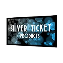 "STR-169120-G Silver Ticket 4K Ultra HD Ready Cinema Format (6 Piece Fixed Frame) Projector Screen (16:9, 120"", Grey Material)"