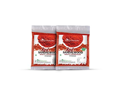 - Kerala Naturals Ayurvedic Natural Red Sandalwood Powder Raktha Chandan - 100Gm (50gm x 2 packs)