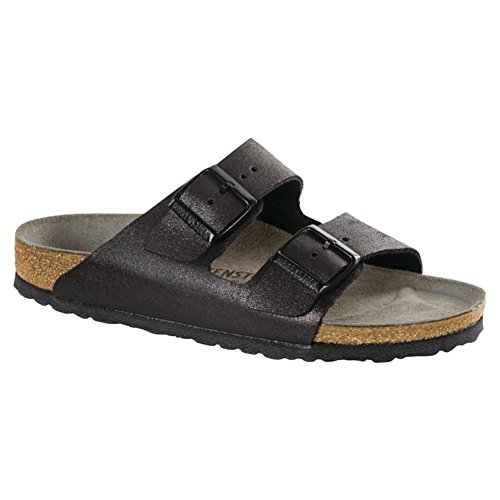 (Birkenstock Women's Arizona Washed Metallic Antique Black 41 N)