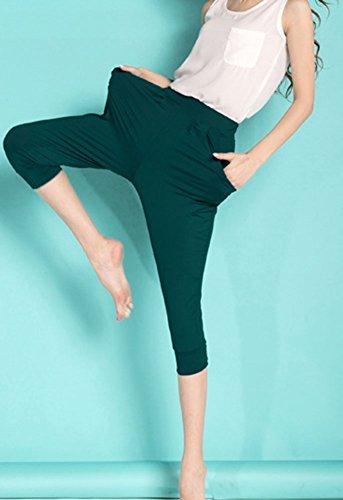 Cortos Harem Verdinegro Yoga Pantalones Tallas Mujer Grandes Anchos Deportes Pantalon Jogging Capri Casuales pg4zYA