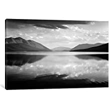 """ART AAD2-1PC6-40x26 Evening, McDonald Lake, Glacier National Park Gallery Wrapped Canvas Art Print by Ansel Adams, 26"""" X 1.5"""" X 40"""""""