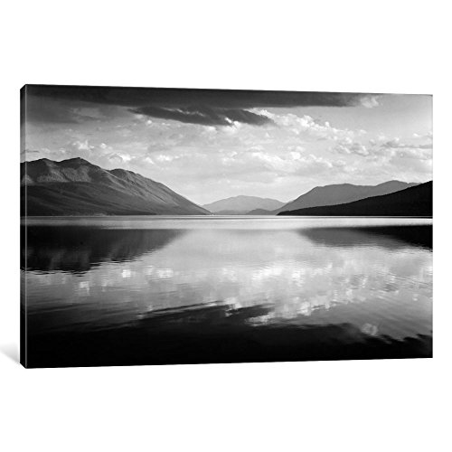 iCanvasART Evening, McDonald Lake, Glacier National Park Gallery Wrapped Canvas Art Print by Ansel Adams, 26