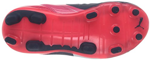 Puma evoPOWER 3.2 FG Jr - zapatillas de fútbol de material sintético infantil azul - Blau (peacoat-white-bright plasma 01)