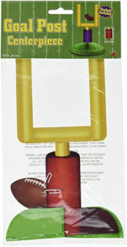 Beistle 55017 1-Pack Goal Post Centerpiece, 9-Inch
