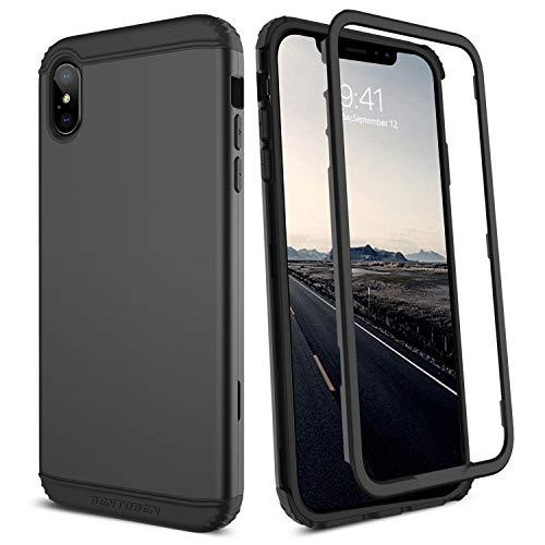iPhone Xs Max Case, BENTOBEN Apple iPhone Xs Max 6.5 2018, Hybrid Hard PC Soft TPU Heavy Duty Full Body Protective Phone Case for iPhoneXS Max/iPhone Xs Plus 6.5 Inch, Black