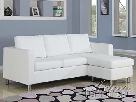 Amazon.com: 2 pc Kemen collection white leather like vinyl ...