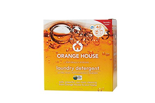 Orange House Powder Laundry Detergent, Non-Toxic and Naturally Powerful, 40 Loads