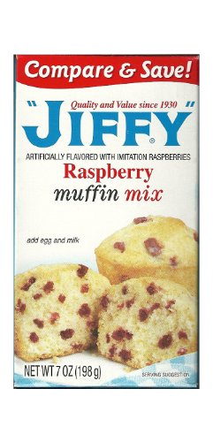Raspberry Muffins - Jiffy Raspberry Muffin Mix 7-oz Boxes (Pack of 6)