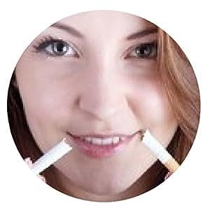 alfombrilla de ratón Mujer que sostiene por cigarrillo roto - ronda - 20cm