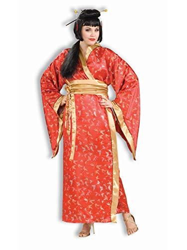 Madame Butterfly Plus Size Costumes - Woman's Madame Butterfly Costume, Brown/Beige, Plus