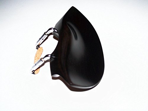 A 4/4 Violin Flesch Ebony Old Style Over The Tailpiece Chinrest with Standard Bracket - Styles Ebony