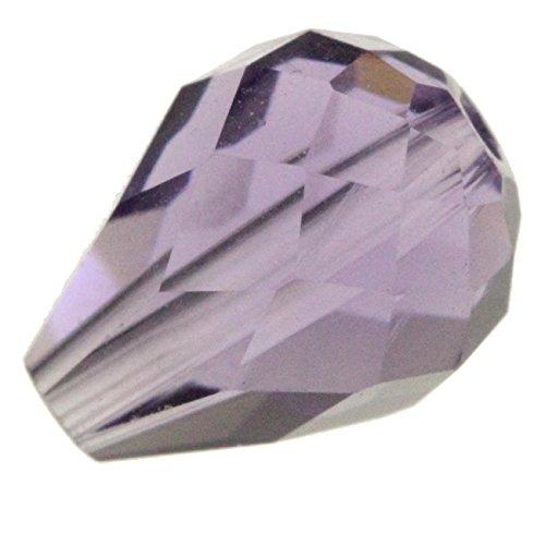Tanzanite Crystal Bead - 50 8x6mm Adabele Austrian TearDrop Crystal Beads Tanzanite Compatible with Swarovski Preciosa Crystalized Beads 5500#SST-826
